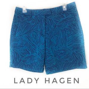 Lady Hagen Paradise Found Zebra Golf Shorts